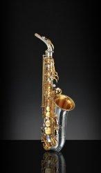 RAMPONE&CAZZANI saksofon altowy R1 JAZZ, 2006/J/AUG, Vintage Silver and Gold