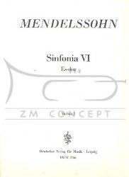Mendelssohn F. VI Sinfonia Es dur - komplet głosów