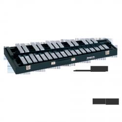 STUDIO49 DZWONKI przenośne, model RGST/K/V, płytki brzmieniowe chromowane, matowe, z futerałem