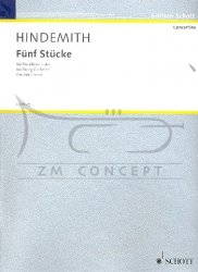 Hindemith, Paul: 5 Stücke op. 44,4 : na orkiestrę smyczkową, partytura