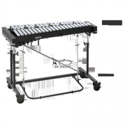 STUDIO49 DZWONKI koncertowe, model RGC 3030, czarno-srebrne drewno, 3 oktawy