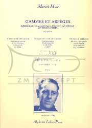 Mule Marcel: Gammes et Arpeges 3rd Book: na saksofon