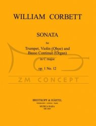 Corbett, William: Sonata C-dur op. 1:12 na trąbkę, obój/skrzypce i bc
