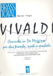 VIVALDI Antonio: Koncert C-dur/B-dur na 2 trąbki i kwintet blaszany Partytura + głosy