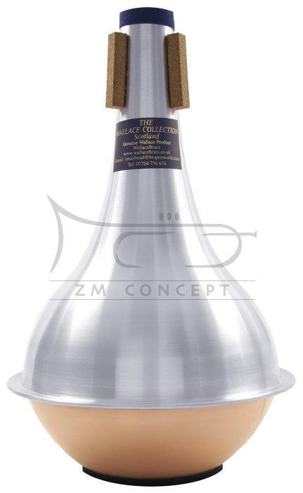 WALLACE TWC 352 tłumik do puzonu basowego straight, alu cooper bottom (miedziane denko)