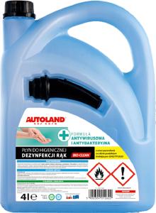 BIO-CLEAN Środek do dezynfekcji rąk 70% alk z lejkiem i atestem 4L
