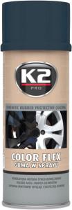 K2 COLOR FLEX Guma w sprayu carbon 400ml