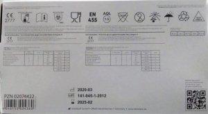 Rękawiczki nitrylowe jednorazowe 100szt rozmiar S certyfikat