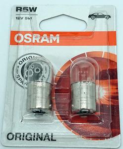 2x OSRAM Żarówka R 5W 12V blister 5007-02B