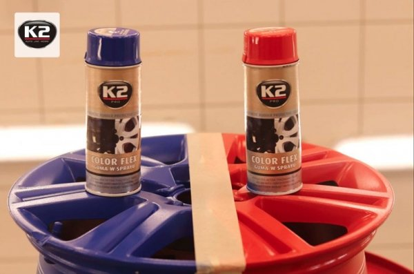 "K2 COLOR FLEX Guma w sprayu ""czarny mat"" 400ml"