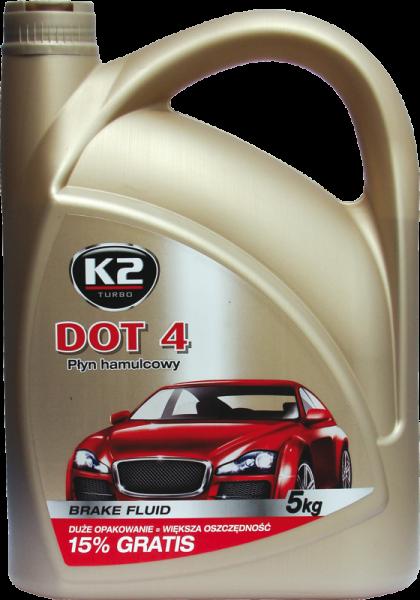 K2 T114 Płyn hamulcowy DOT4 5KG