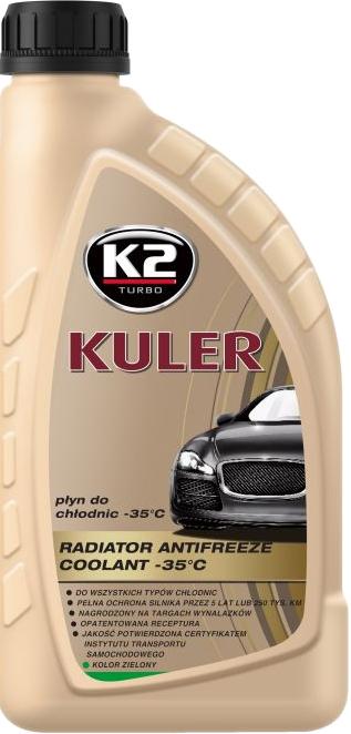 K2 T201Z Płyn do chłodnic 1L -35C