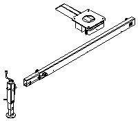 Zestaw podporowy z 1 noga M i przesuwnym siodłem