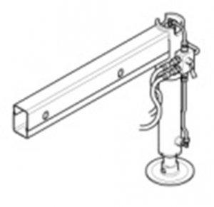 Druga Hydrauliczna noga z Manualnym wysuwaniem Obracana  ML270L