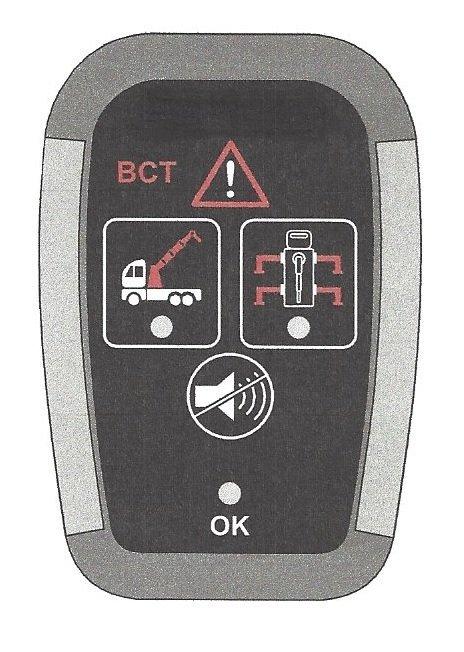 Sygnalizator alarmowy nie złożonego dźwigu i nóg ML 270