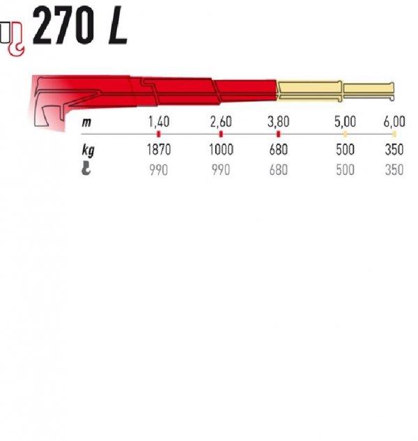 Żuraw Maxilift ML270.2L D  E12V komplet z rama + 2 podpory H