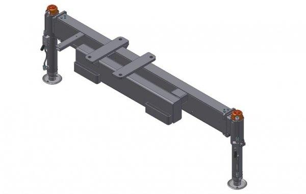 Rama podporowa 2 Hydrauliczne nogi Hydrauliczny wysuw 4400mm