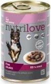 Nutrilove Dog Premium Smaczne kawałki z cielęciną i indykiem w pysznym sosie 12x415g