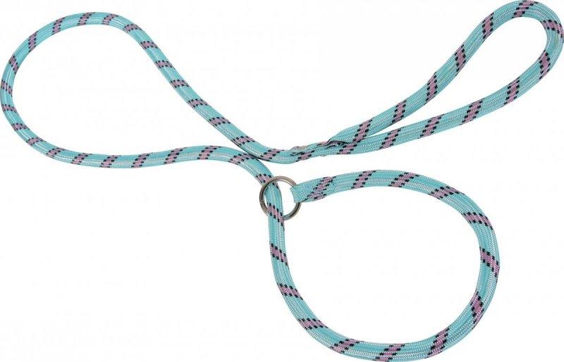 Zolux Smycz nylonowa z obrożą - turkusowa - sznur lasso 1,8m