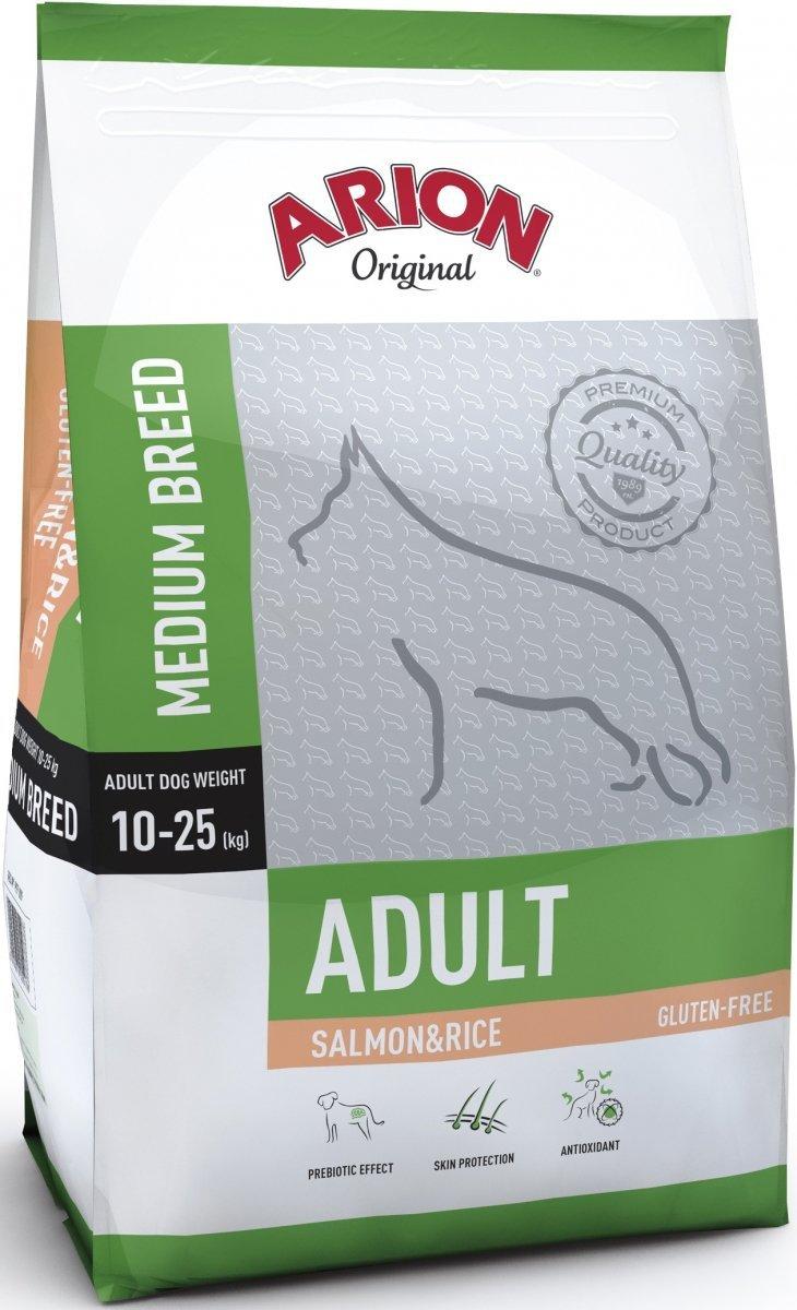 Arion Original Adult Medium - Łosoś z ryżem 12kg