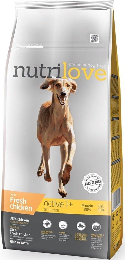 Nutrilove Premium Active - ze świeżym kurczakiem 12kg