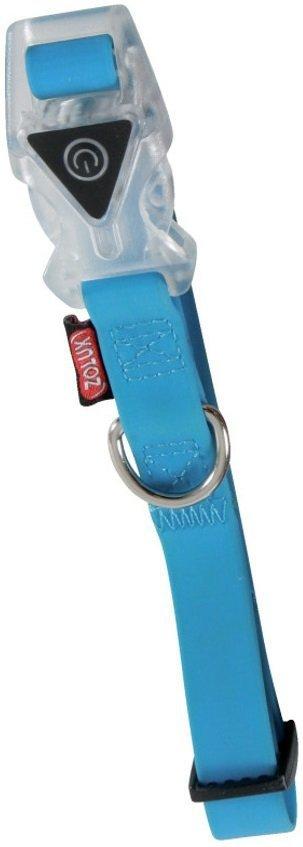Zolux Obroża silikonowa świecąca - regulowana niebieska 27-42cm/15mm