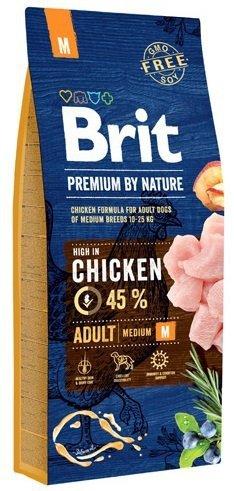 Brit Premium By Nature Medium Adult M 15kg