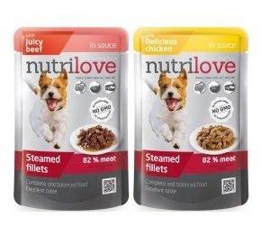 Nutrilove Dog Premium Delikatne fileciki w sosie - Mix smaków 28x85g