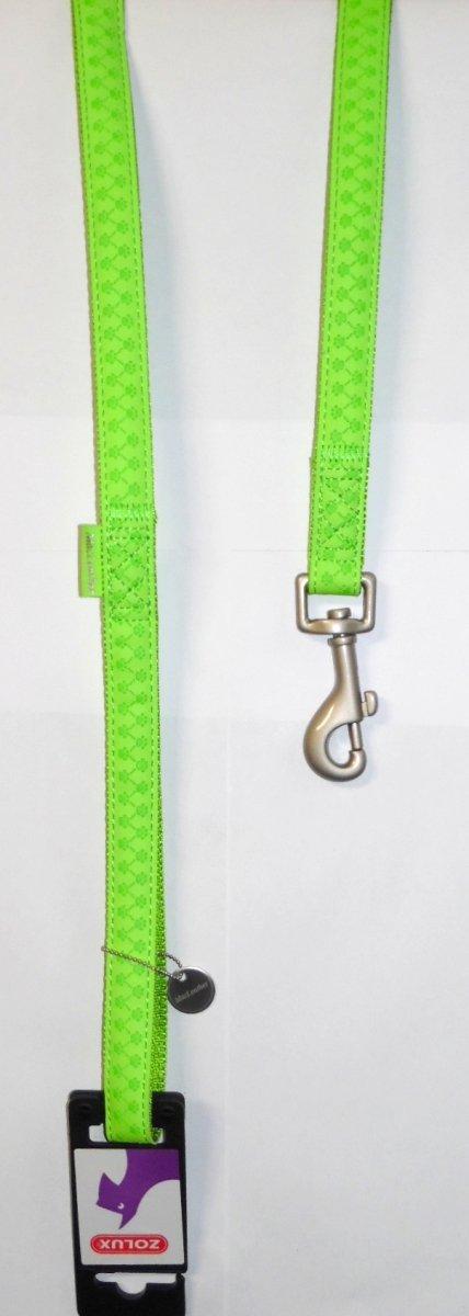 Smycz Mac Leather 15mm/1,2m seledynowa