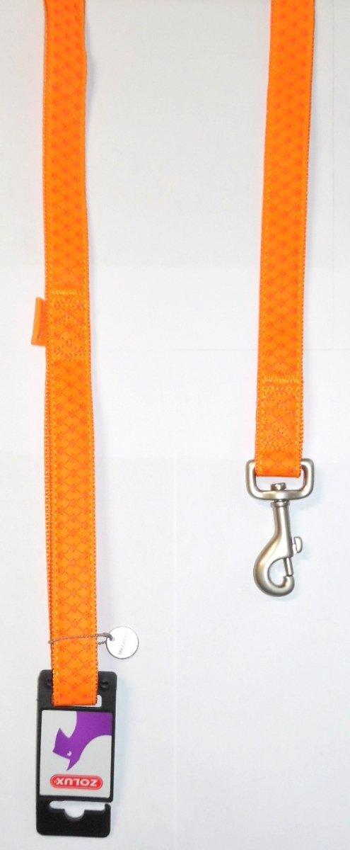 Smycz Mac Leather 20mm/1,2m pomarańczowa