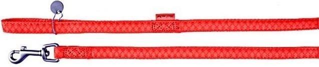 Smycz Mac Leather 20mm/1,2m czerwona