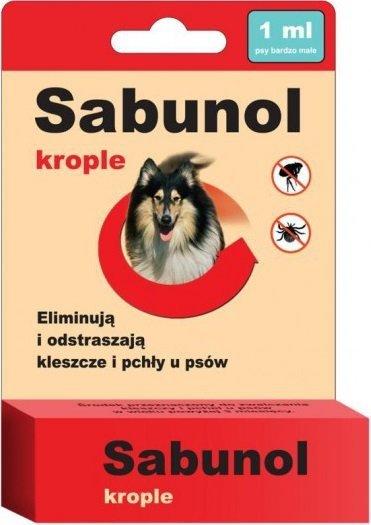 Sabunol Krople przeciw pchłom i kleszczom 1ml
