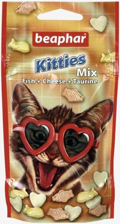 Beaphar Kitties Mix - przysmak dla kota o smaku ryby i sera z tauryną 32,5g