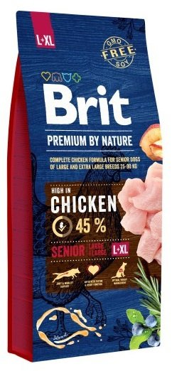 Brit Premium By Nature Large & Extra Large Senior L - XL 15kg