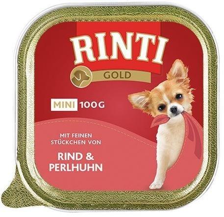 Rinti Gold Mini Wołowina i Perliczka 16x100g