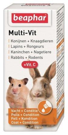 Beaphar Multi-Vit - preparat witaminowy dla gryzoni i królików 20ml