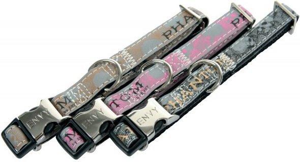 Zolux Obroża regulowana z motywem Envy Phatom 21-31cm/10mm - różowa