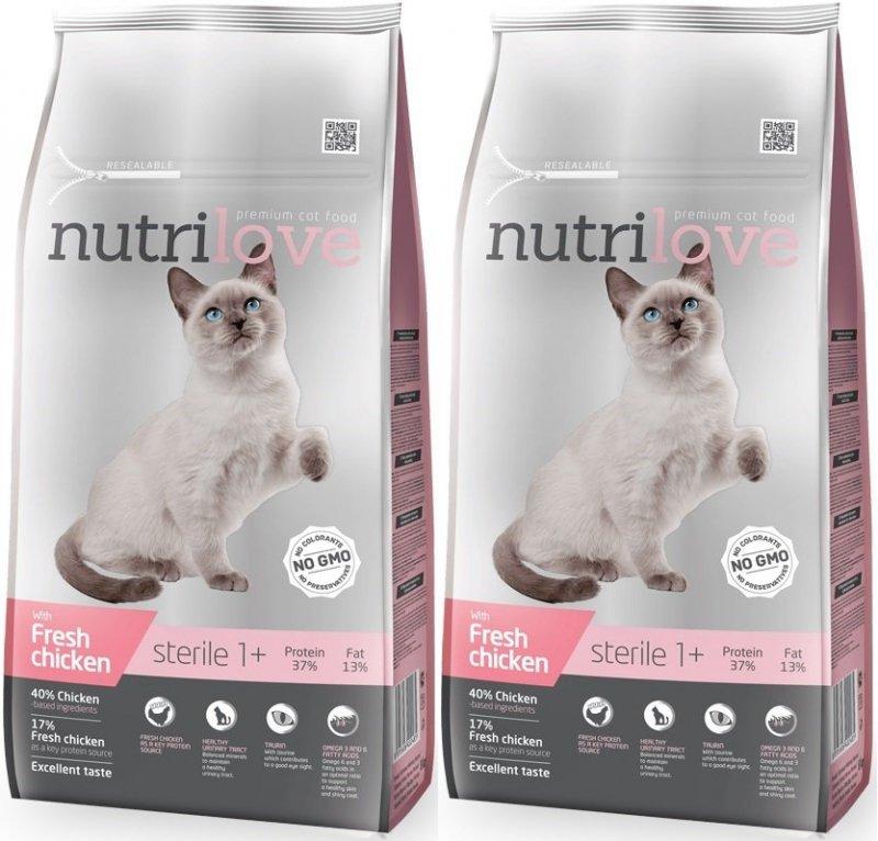 Nutrilove Premium Sterile ze świeżym kurczakiem 2x7kg (14kg)