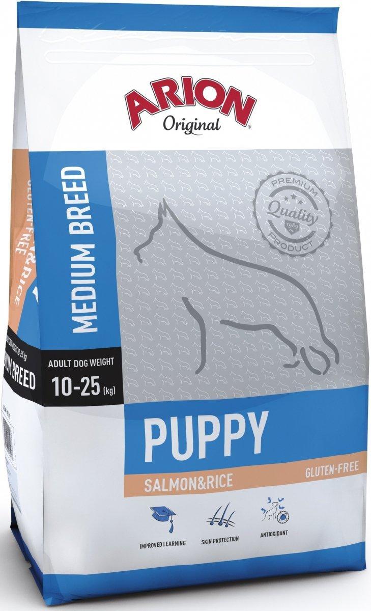 Arion Original Puppy Medium - Łosoś z ryżem 12kg