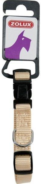 Zolux Obroża nylonowa regulowana 20mm - beżowa
