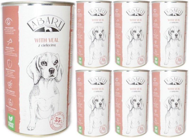 Abart Dog with Veal - 55% mięsa - Cielęcina w sosie 12x1240g