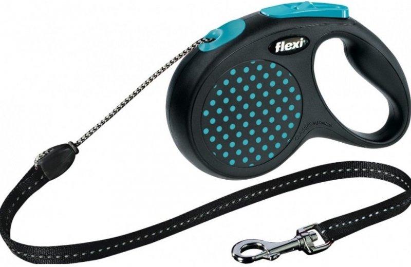Flexi Design M linka 5m - do 20kg - niebieska