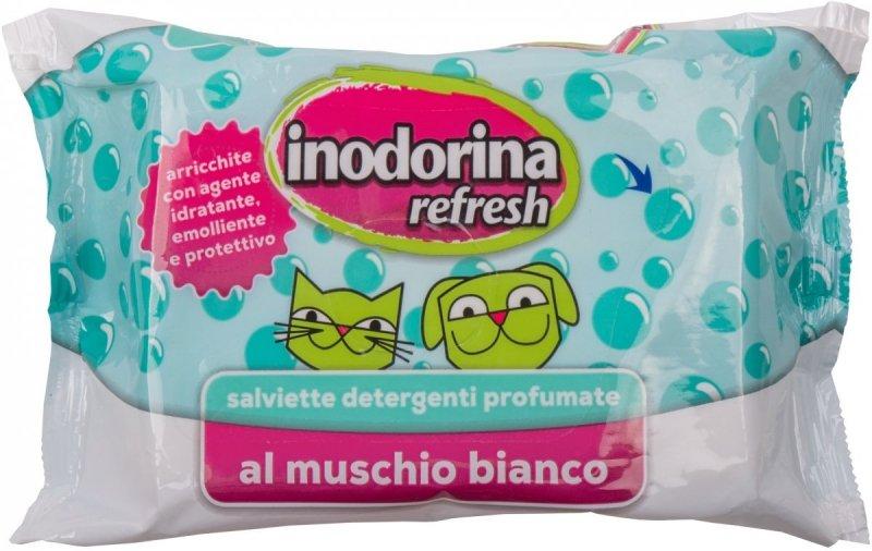 Inodorina Refresh Salviette muschio bianco - chusteczki o zapachu białego piżma 40szt.