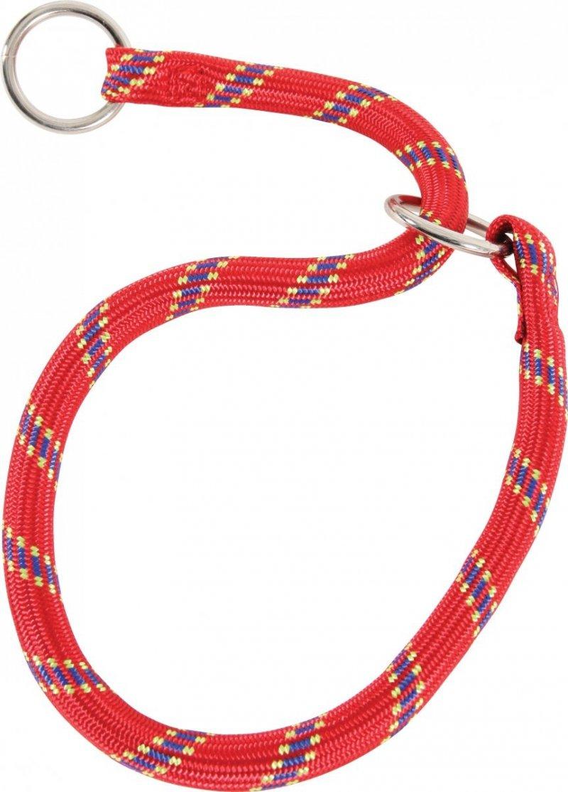 Zolux Obroża dławiąca - dławik nylonowy - czerwony 65cm