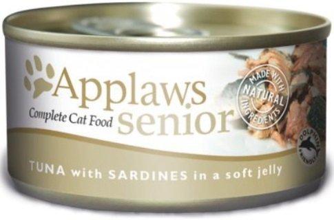 Applaws Senior, puszka Tuńczyk z Sardynką 24x70g