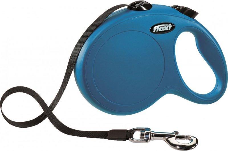 Flexi New Classic taśma L 5m niebieska  - smycz automatyczna