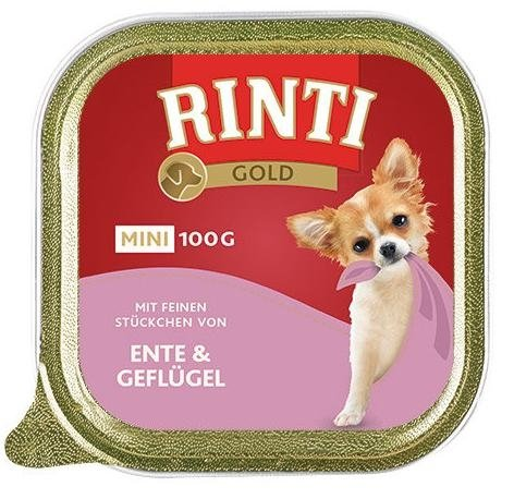 Rinti Gold Mini Kaczka z Drobiem 8x100g