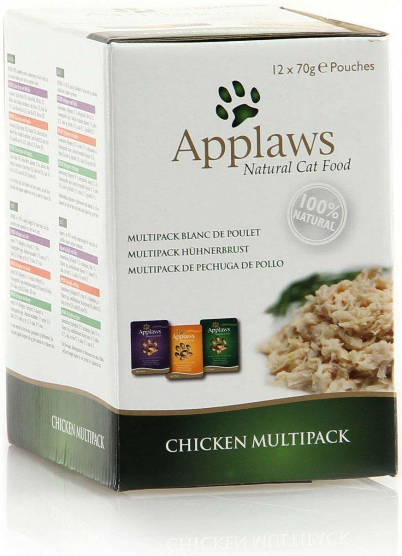 Applaws Chicken Multipack - Mix kurczakowy saszetek w rosole 12x70g