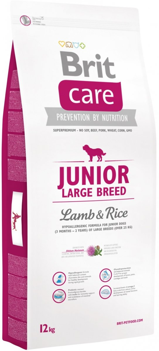 Brit Care Junior N Large Breed Lamb & Rice 12kg