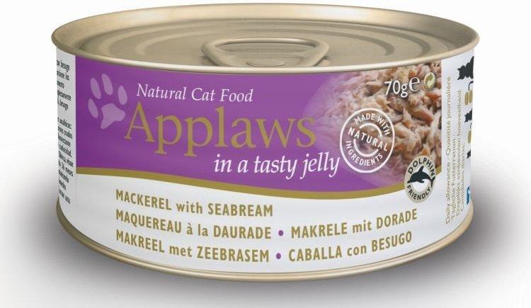Applaws Cat Makrela z doratą w galaretce 24x70g